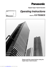 Panasonic KX-TD208CE Operating Instructions Manual