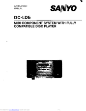Sanyo DC-LD5 Instruction Manual