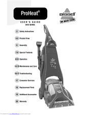 bissell proheat pro tech 8910 series manuals rh manualslib com Bissell ProHeat Parts Manual Bissell ProHeat Instruction Manual