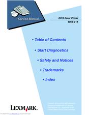 lexmark c910 color printer service manual