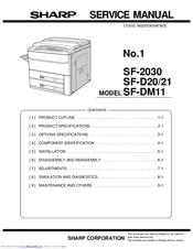 sharp sf 2030 service manual pdf download rh manualslib com