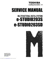 TOSHIBA E-STUDIO203S SERVICE MANUAL Pdf Download