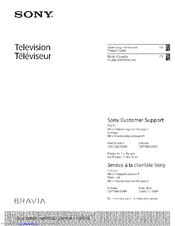 Sony Bravia KDL-32R30OB Operating Instructions Manual