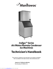 MANITOWOC INDIGO SERIES TECHNICIAN'S HANDBOOK Pdf Download. on