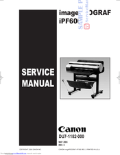 canon imageprograf ipf600 manuals rh manualslib com Canon IPF 8400 Canon IPF 6450 Printer