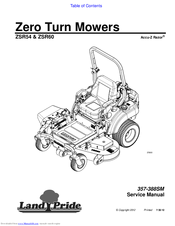 LAND PRIDE ACCU-Z RAZOR ZSR54 SERVICE MANUAL Pdf Download. on