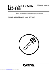 Brother LZ2-B850 Service Manual