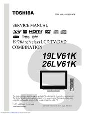 toshiba 26lv61k manuals rh manualslib com Samsung TV Manuals Samsung TV Manuals
