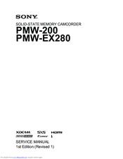 sony pmw ex280 manuals rh manualslib com Sony EX3 Specs Review Sony PMW-EX3