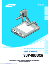 Samsung SDP-900DXA User Manuals
