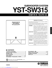 yamaha yst sw315 manuals. Black Bedroom Furniture Sets. Home Design Ideas