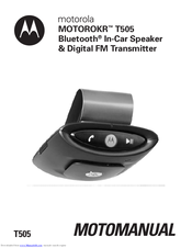 Motorola T505 - MOTOROKR - Speaker Phone Instruction Manual
