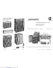 Hohner Symphonic 707 General Servicing Instructions