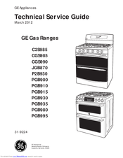 GE Appliances PGB900 Technical Service Manual
