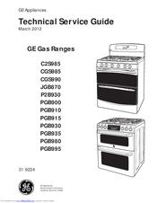 GE Appliances PGB900 Technical Service Manual