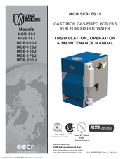 utica boilers mgb-50j installation, operation & maintenance manual pdf  download