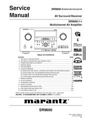 Marantz Sr9600 Manuals Manualslib
