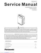 Panasonic F-VXF70A Service Manual