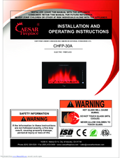 Caesar Fireplace CHFP-50A Manuals