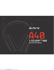 ASTRO MIXAMP M80 INSTRUCTION MANUAL Pdf Download