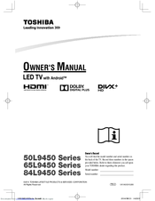 Toshiba 50L9450 Series Owner's Manual