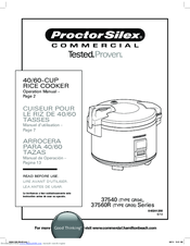 Proctor Silex Coffee Maker Instruction Manual : Proctor-silex 37560R Series Manuals