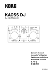 Korg Kaoss DJ Owner's Manual
