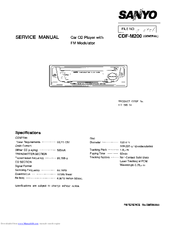 Sanyo CDF-M200 Service Manual
