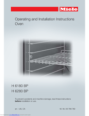 Miele H 6180 BP Operating And Installation Instructions