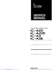 Icom IC-A3 Manuals
