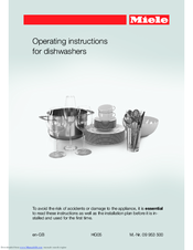 Miele dishwasher instruction manual questions & answers (with.