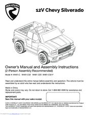 rollplay 12v chevy silverado w461 c manuals rh manualslib com