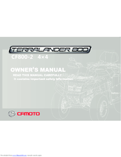 CFMOTO TERRALANDER CF800-2 OWNER'S MANUAL Pdf Download