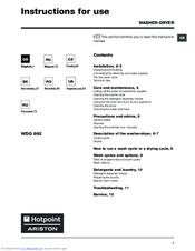 hotpoint ariston wdg 862 manuals rh manualslib com FDL Hotpoint Dishwasher hotpoint dishwasher lft114 instruction manual