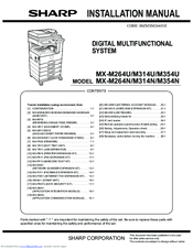 sharp mx m314n manuals rh manualslib com Sharp Copier Repairs Sharp Copiers and Printers