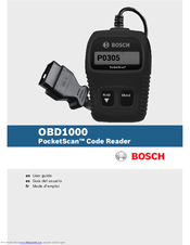 Bosch OBD1000 User Manual