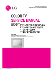 LG RT-29FB70RQ Service Manual