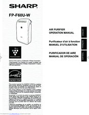 Sharp FP-F60U-W Operation Manual