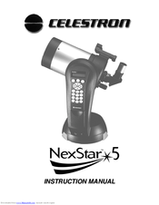 celestron nexstar 5 instruction manual pdf download rh manualslib com celestron nexstar 4se manual en español celestron nexstar 4se telescope manual