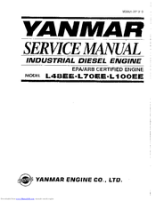 yanmar l100ee manuals rh manualslib com yanmar l'100 service manual yanmar l100ae-de parts manual