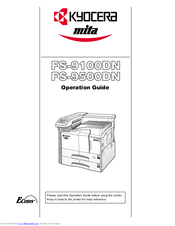 KYOCERA MITA FS-9100DN KX DRIVERS DOWNLOAD