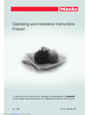 Miele FNS 37402 i Operating And Installation Instructions
