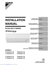 Daikin super multi nx 3mxs68g2v1b manuals.