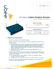 Ubee Modem Router Manual - Router Image Oakwoodclub Org