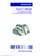 Datalogic Gryphon I GBT4400 Quick Reference Manual