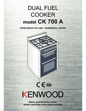 Kenwood CK 700 A Instructions For Use Manual