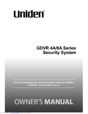 Uniden GDVR 8A Series Owner's Manual