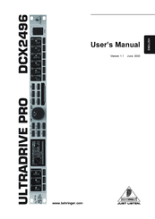 behringer ultradrive pro dcx2496 manuals rh manualslib com Behringer 2496 Mods Behringer 2496 Mods