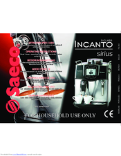 saeco incanto coffee machine instruction manual