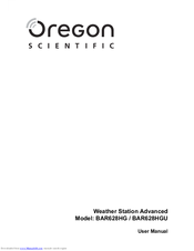 Oregon Scientific BAR628HG User Manual